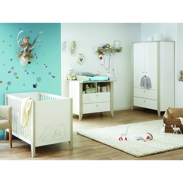 babyzimmer b rchen 4 teilig wei grau babyzimmer. Black Bedroom Furniture Sets. Home Design Ideas