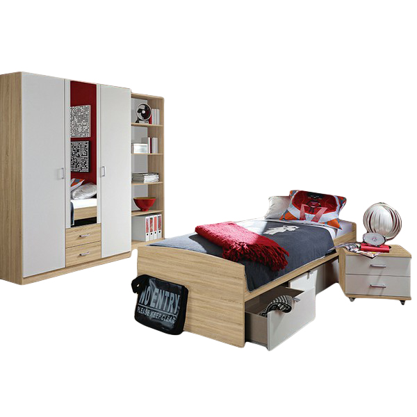 kinderzimmer acun 4 teilig wei grau kinder jugendzimmer. Black Bedroom Furniture Sets. Home Design Ideas