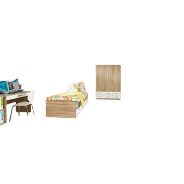 Kinderzimmer Aaltje 3-teilig Weiß / Grau