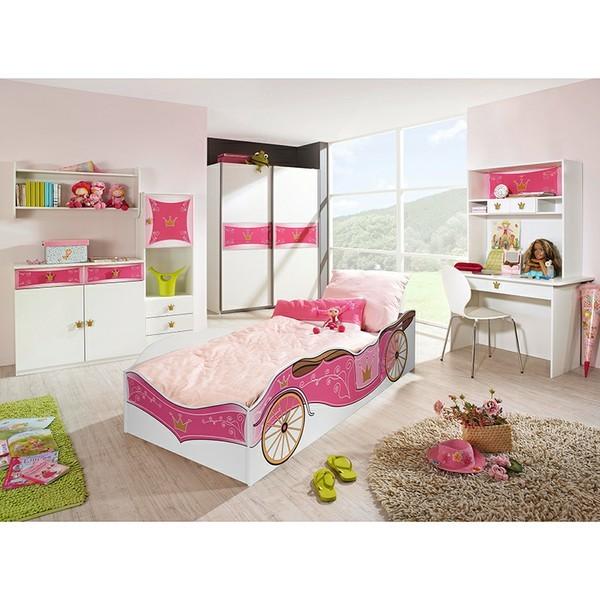 Kinderzimmer Zoe2 4-teilig Weiß / Pink