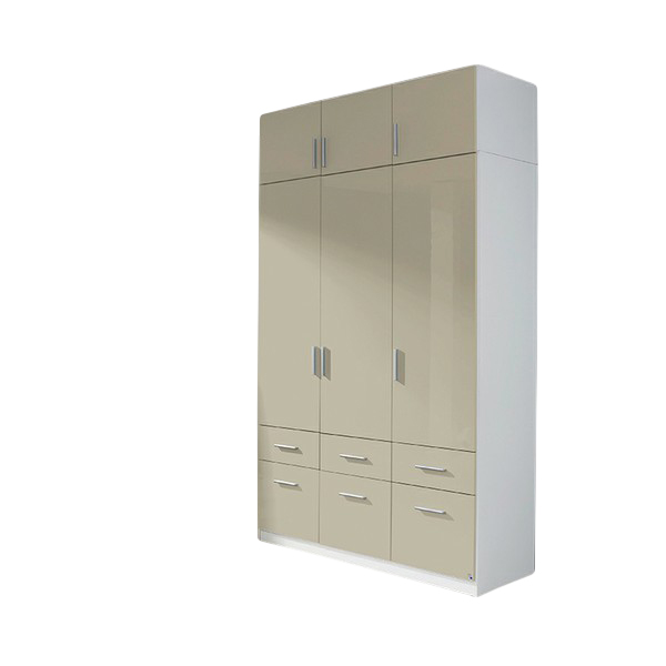 kleiderschrank ademaro hochglanz grau 3 t ren b 136 cm kleiderschr nke. Black Bedroom Furniture Sets. Home Design Ideas