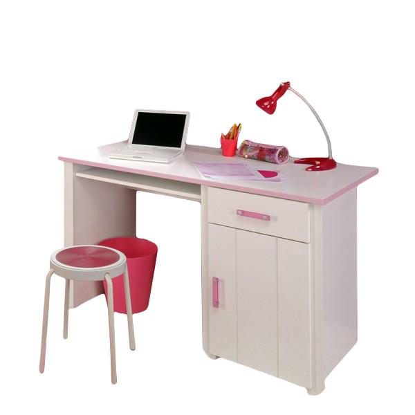 Schreibtisch Biotiful Parisot Weiß / Rosa