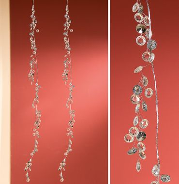 Hängedekoration Girlande DIAMOND Acrylsteine klar Metall silber Gilde