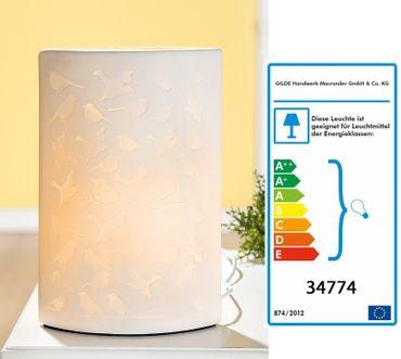 Porzellanlampe LAMPE VOGEL DESIGN Porzellan Gilde – Bild 1