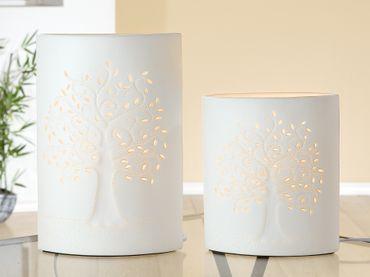 """Porzellanlampe Elipse """"Lebensbaum"""" klein oder groß - Gilde – Bild 2"""