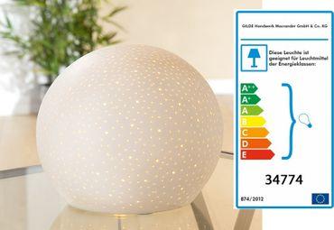 Porzellanlampe KUGELLAMPE STERNENHIMMEL Gilde – Bild 1