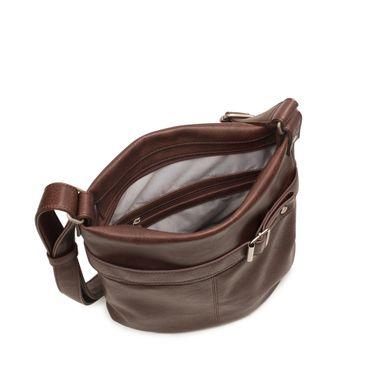 ZWEI Handtasche KARLA K12-z Damen Umhängetasche mit Innentäschchen aus Kunstleder – Bild 6
