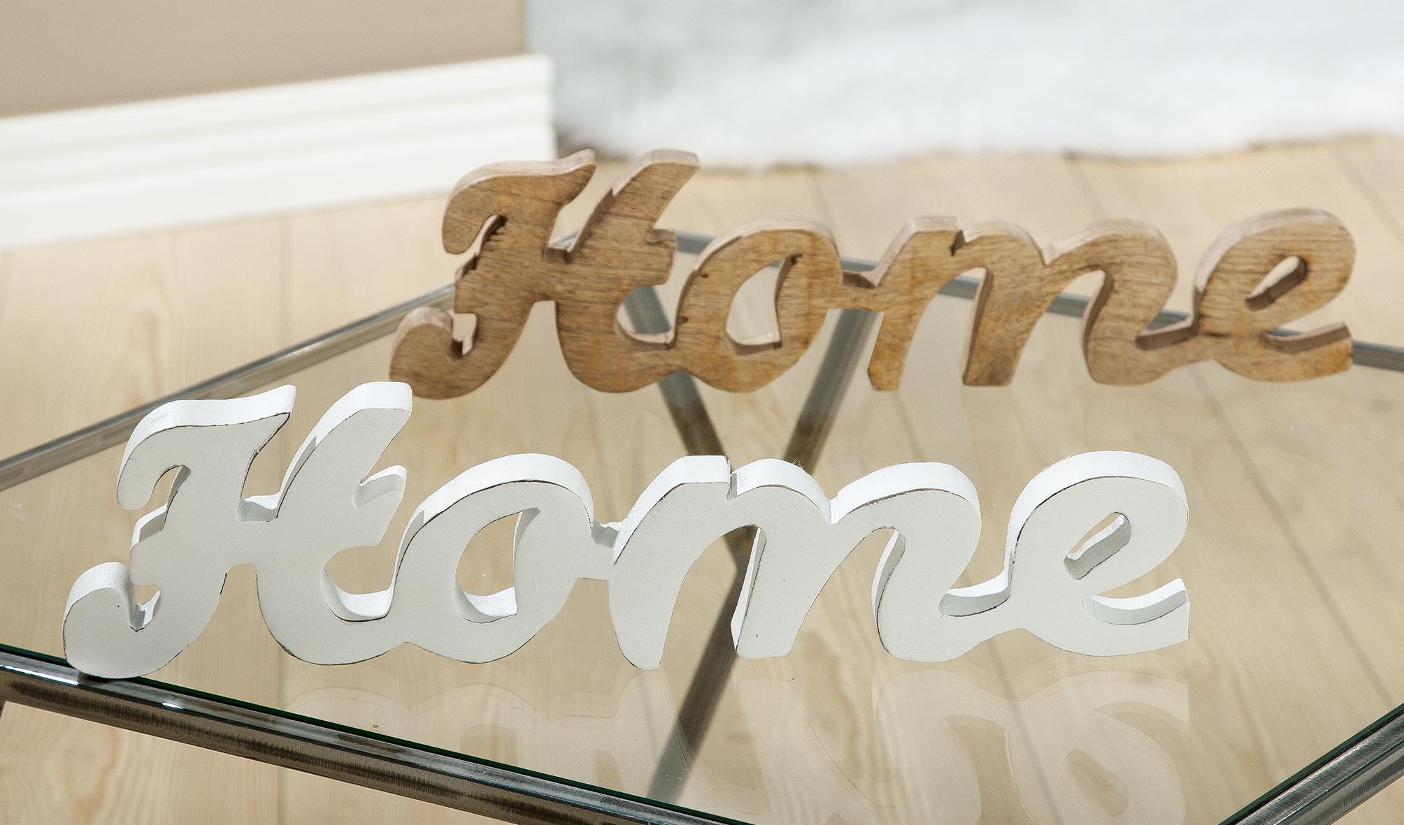 Gilde Handwerk Schriftzug Home aus Mango Holz Breite 39 cm