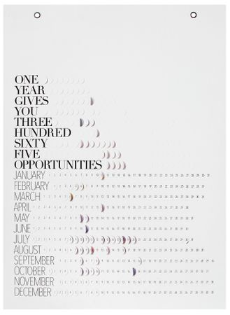"Pflück mich Kalender ""One year gives you"" - Räder Design"