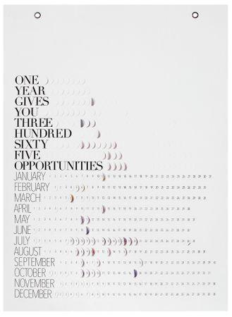 "Pflück mich Kalender ""One year gives you"" - Räder Design"