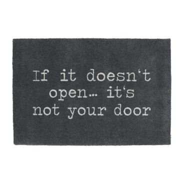 "Fußmatte ""If it doesn't open...it`s not your door"" - Räder Design"