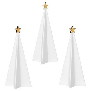 Weihnachtsdeko Porzellantannen Set (3Stk.) gold, Räder Design - Winterzeit – Bild 1