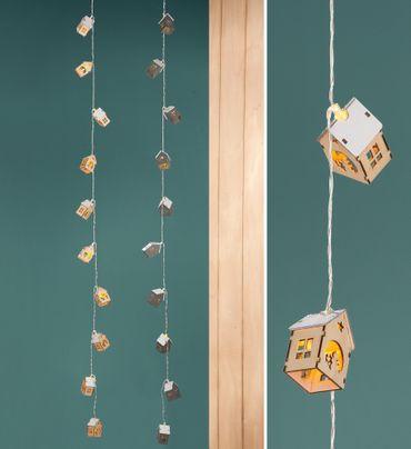 10er LED Häuschengirlande - Gilde