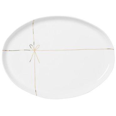 """Porzellanteller oval """"Geschenk"""" - Räder Design – Bild 1"""