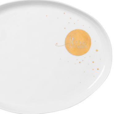 """Porzellanteller oval """"Sternstunden"""" - Räder Design – Bild 2"""