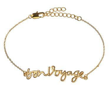 """Botschaftsband """"Bon Voyage"""" gold - Räder Design"""
