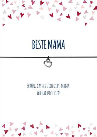 "Wunscharmbänder ""Beste Mama"" - Glücksschmiedin  – Bild 1"