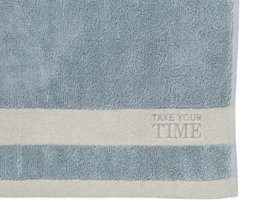 "2er Set Gästehandtücher ""Take your Time"" blau - Räder Design  – Bild 2"