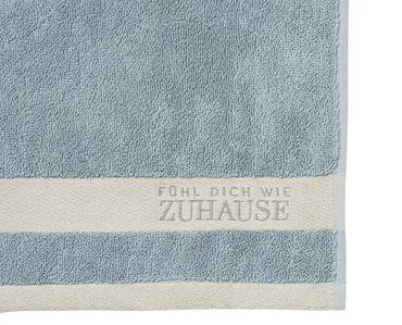 """2er Set Gästehandtücher """"Fühl dich wie Zuhause"""" blau - Räder Design  – Bild 2"""