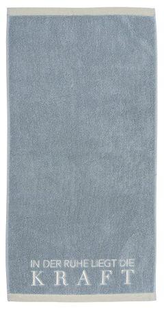 """Handtuch """"In der Ruhe liegt die Kraft"""" blau - Räder Design  – Bild 1"""