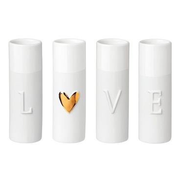 "4er Set Mini Vasen ""Love"" - Räder Design – Bild 1"