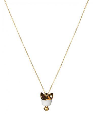 """Halskette """"Krone"""" Porzellan vergoldet - Räder Design"""