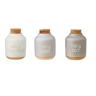 Gewürzflaschen 3er Set Steingut - Räder Design – Bild 1