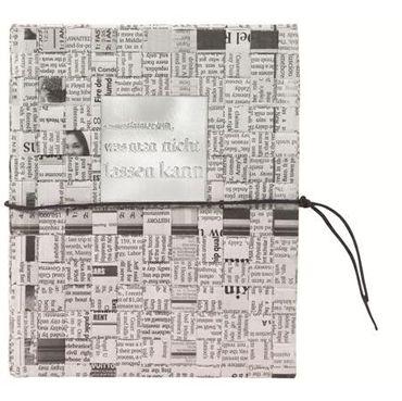 """Zeitungspapier Notizbuch """"Man muss immer"""" Schreibheft DIN A5 - Räder Design  – Bild 1"""