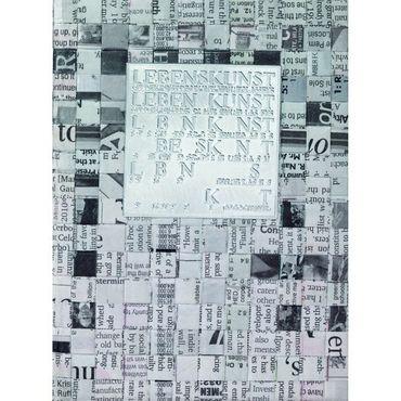 """Zeitungspapier Notizbuch """"Lebenskunst ist...""""Schreibheft DIN A5 - Räder Design  – Bild 1"""