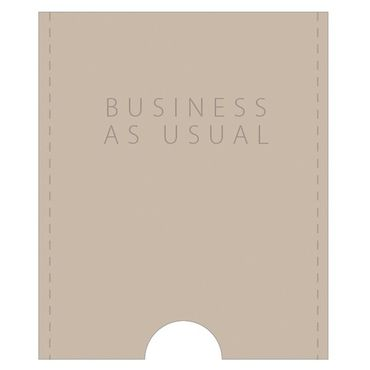 "Kartenetui Visitenkartenetui ""Business as usual"" Leder sand - Räder Design – Bild 1"