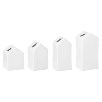 """Vasen klein 4er-Set """"Gartenhäuschen"""" Porzellan - Räder Design – Bild 1"""