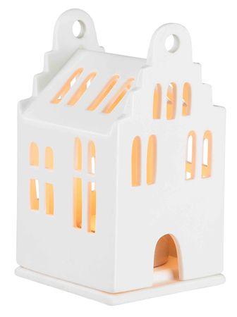 "Mini Lichthaus ""Giebelhaus"" 6x6,5x11cm - Räder Design"