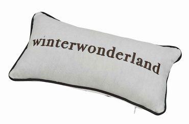 """Traumkissen """"Winterwonderland"""" silber 33x17cm - Räder Design – Bild 1"""
