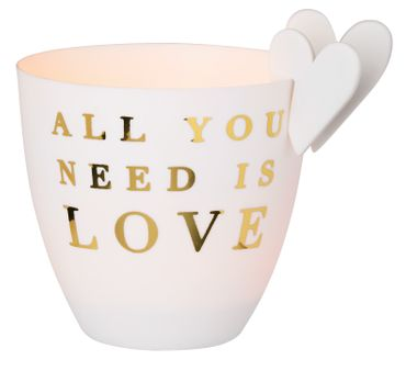 "Poesielicht ""All you need"" mit Herzsteckern - Räder Design"