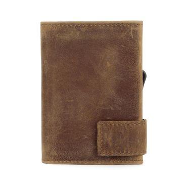 Kartenetui mit Ausleseschutz inkl. Geldbörse Leder (Variante Druckknopf) - SecWal  – Bild 5