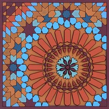 Glas Untersetzer quadratisch Coaster Moucharabieh - Images d`Orient  – Bild 1