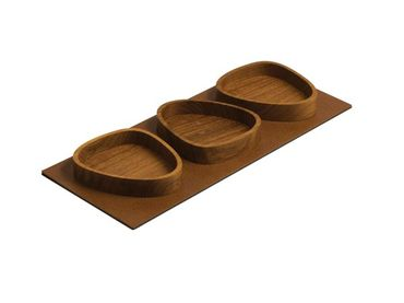 Servier Tablett Serving Tray Set Curve (44x18,5cm) Oak/Bull - LindDNA – Bild 2