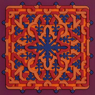 2er Set Glas Untersetzer quadratisch Coaster Vagabonde Crochet Velours - Images d`Orient
