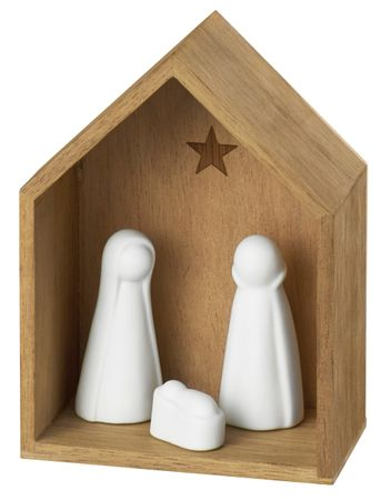 Kleine Krippe Weihnachtskrippe Akazienholz - Räder Design