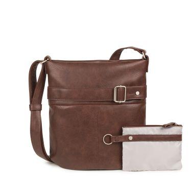 ZWEI Handtasche KARLA K12-z Damen Umhängetasche mit Innentäschchen aus Kunstleder – Bild 7