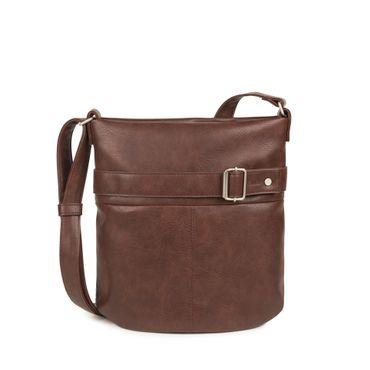 ZWEI Handtasche KARLA K12-z Damen Umhängetasche mit Innentäschchen aus Kunstleder