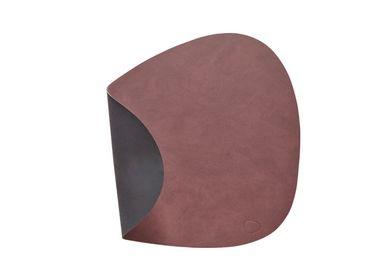 Tischset Platzset beidseitig DOUBLE CURVE S (24x28cm) Leder - LindDNA