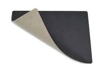 Tischset Platzset rechteckig beidseitig DOUBLE SQUARE L (35x45cm) Leder - LindDNA – Bild 4