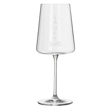 "Vino Apero Aperitif Weinglas ""Läuft"" - Räder Design"