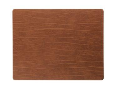 Tischset Platzset Square rechteckig L (35x45cm) Buffalo Leder - LindDNA – Bild 3
