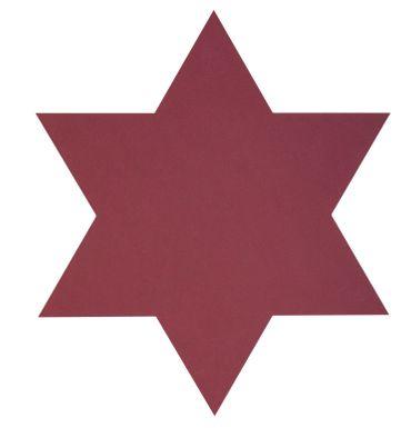 Tischset Platzset Stern (34x34cm) Nupo Leder - LindDNA – Bild 1