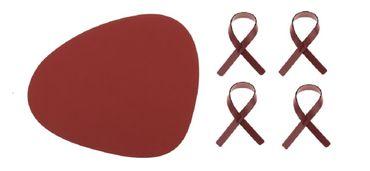 Tischset inkl. Serviettenringe 8er Set (4 Tischset Curve L 37x44cm Nupo + 4 Serviettenringe) - LindDNA – Bild 1