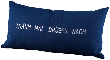 """Tagtraumkissen """"Träum mal drüber nach"""" 30x60cm - Räder Design"""