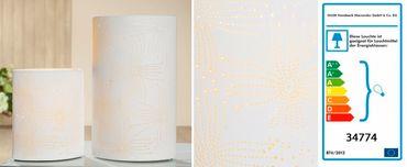 """Porzellanlampe Elipse """"Blume"""" klein oder groß - Gilde – Bild 1"""
