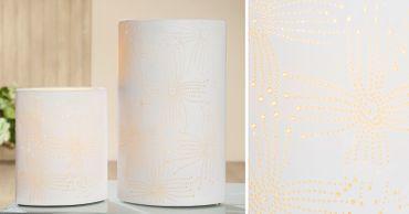 """Porzellanlampe Elipse """"Blume"""" klein oder groß - Gilde – Bild 2"""